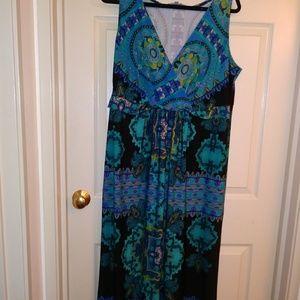 NY collection maxi dress. 1x
